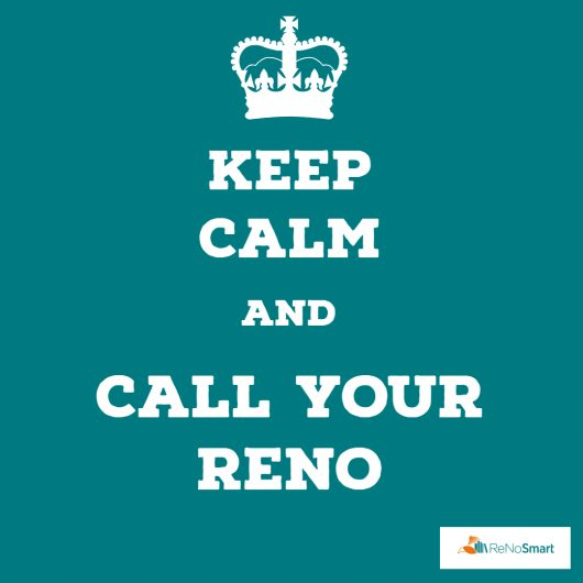 Keep calm and call your ReNo