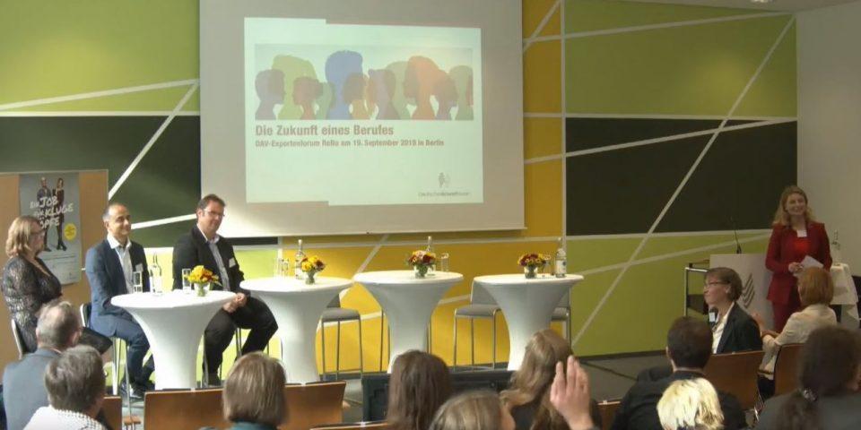 Expertenforum DAV ReNo am 19.09.19 in Berlin – Die Zukunft eines Berufes
