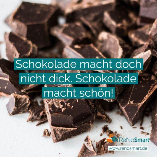 Schokolade macht doch nicht dick. Schokolade macht schön!