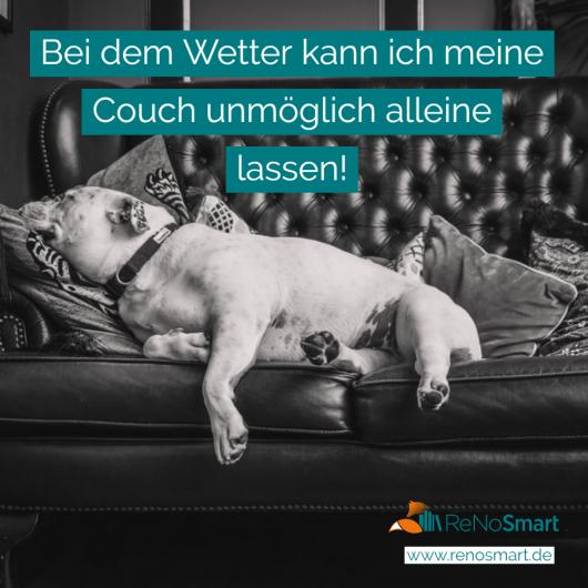 Bei dem Wetter kann ich meine Couch unmöglich alleine lassen!