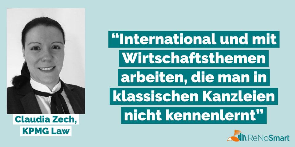 """""""International und mit Wirtschaftsthemen arbeiten, die man in klassischen Kanzleien nicht kennenlernt"""""""